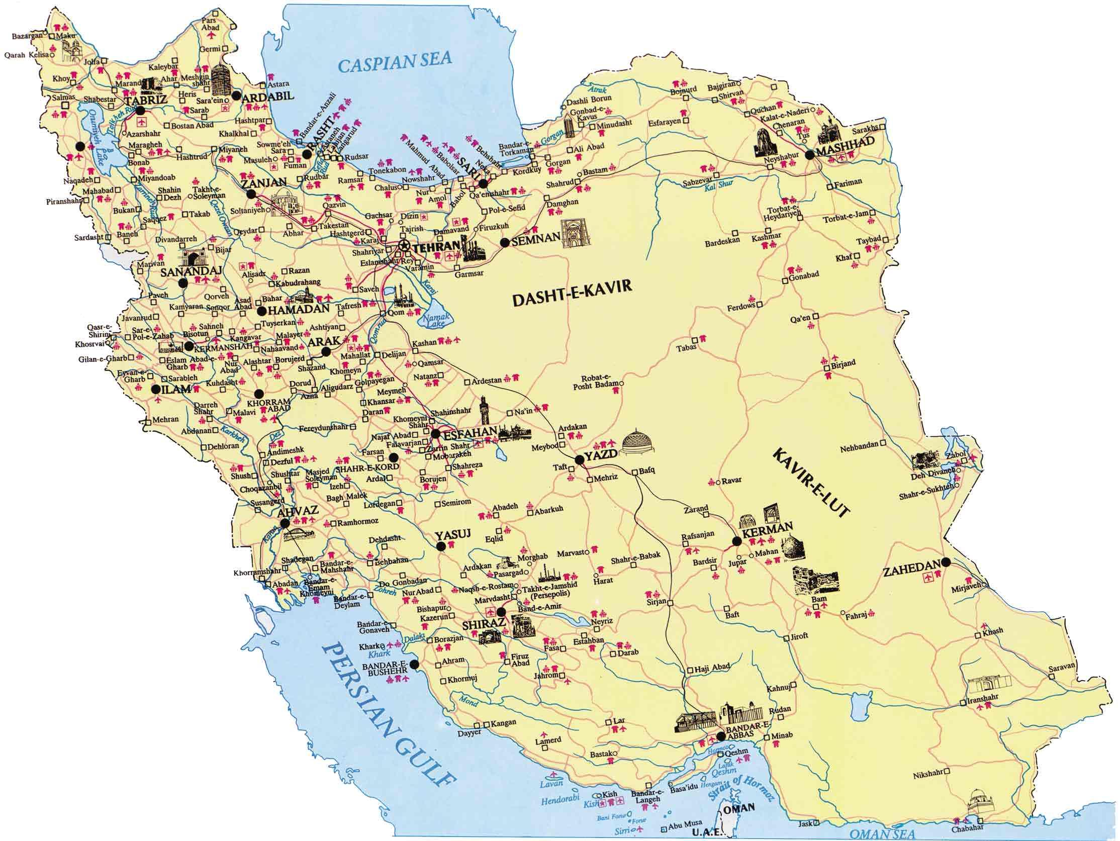 Iran Karte Deutsch.Maps Of Iran A Link Atlas