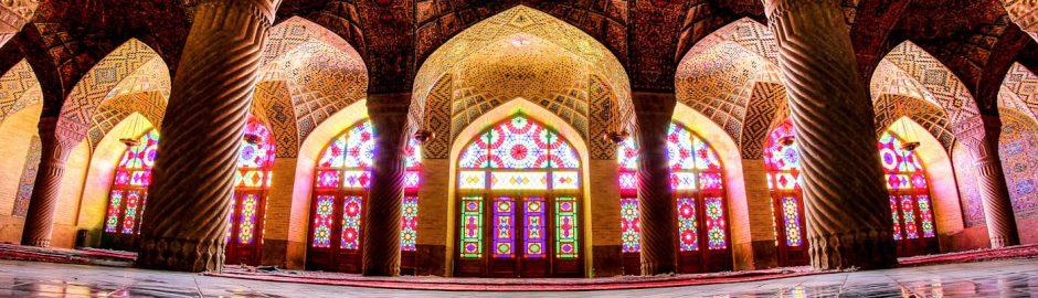 nasir al-mulk mosque , fisheye view- shiraz