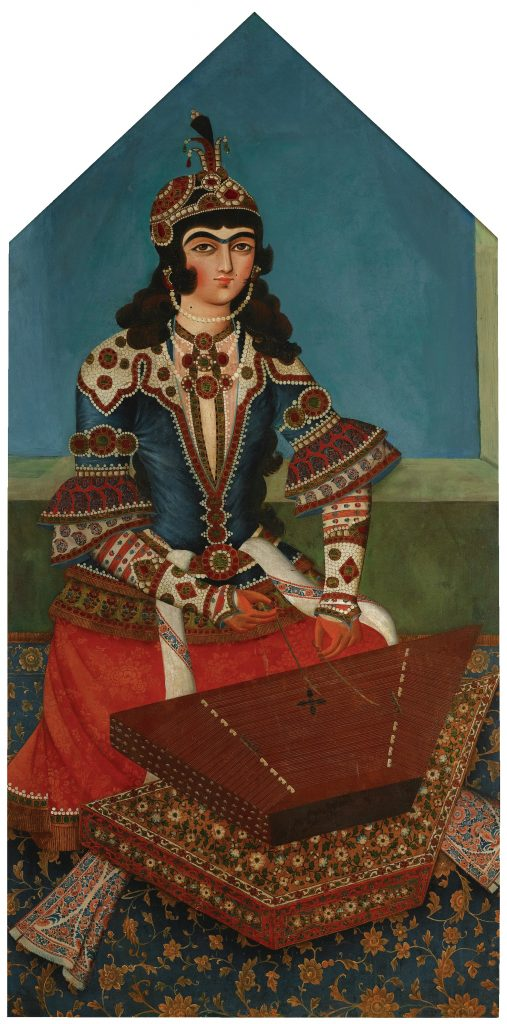 iranian-qajar-women-music-paining-art