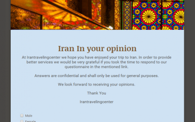 Survey of Iran traveling center