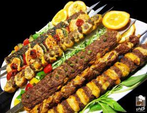 Iranian food kebab
