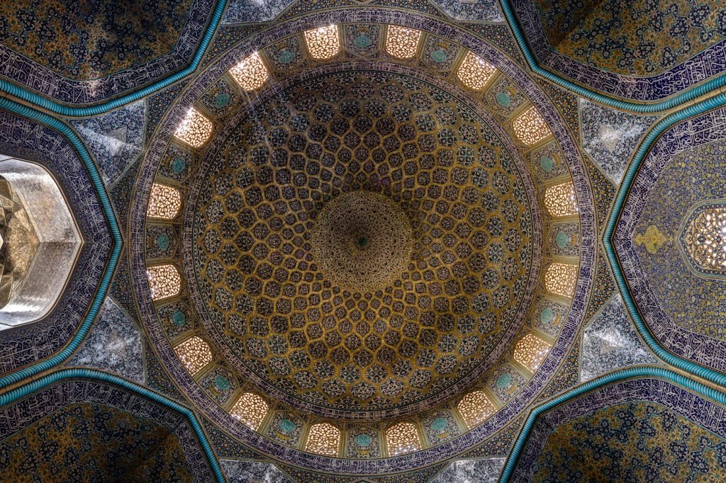 Sheikh Lutfollah Mosque is standing on the eastern side of Naghsh-i Jahan Square, Isfahan. Construction of the mosque started in 1603 and was finished in 1619.