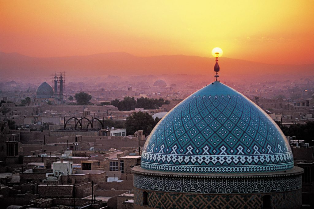 Sunset and Yazd overview