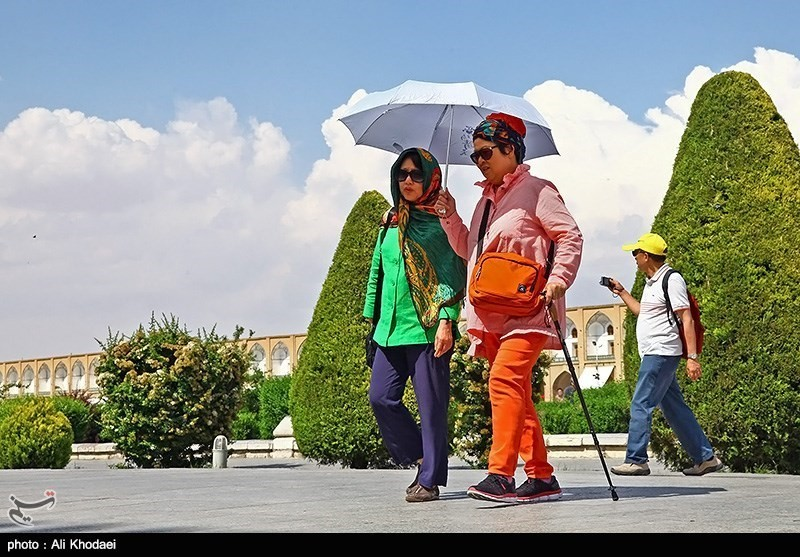 Tourists in Isfahan, Iran