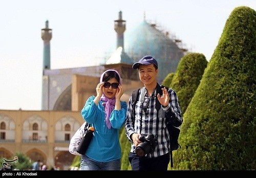 Tourist in Isfahan