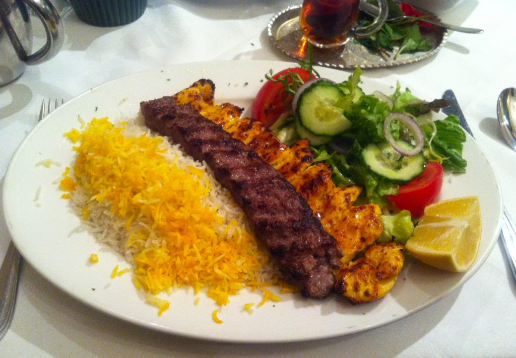Persian Food, Rice and Kebab